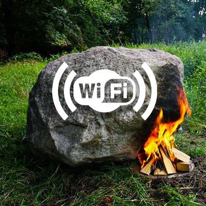 Chuyện thật như đùa: Tảng đá cứ đốt nóng là phát được sóng Wi-Fi!!!
